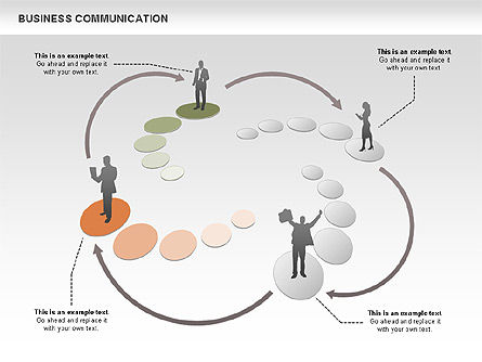 Business Communications, Slide 3, 00521, Process Diagrams — PoweredTemplate.com
