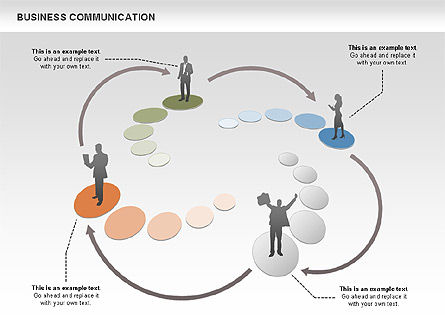 Business Communications, Slide 4, 00521, Process Diagrams — PoweredTemplate.com