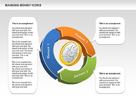 Financial Cycle Diagram, 00522, Pie Charts — PoweredTemplate.com