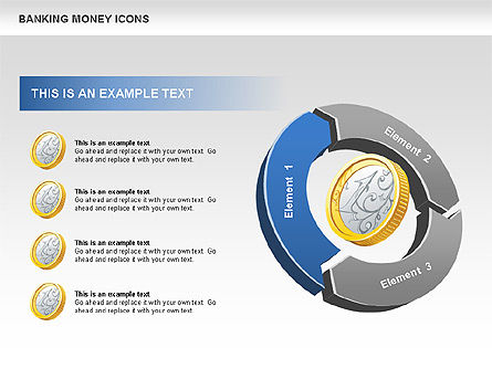 Financial Cycle Diagram, Slide 2, 00522, Pie Charts — PoweredTemplate.com