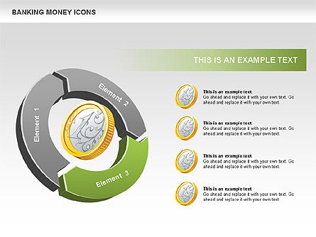 Financial Cycle Diagram, Slide 4, 00522, Pie Charts — PoweredTemplate.com