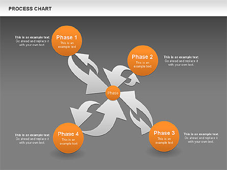 Process Chart Toolbox, Slide 12, 00523, Process Diagrams — PoweredTemplate.com