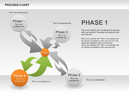 Process Chart Toolbox, Slide 5, 00523, Process Diagrams — PoweredTemplate.com