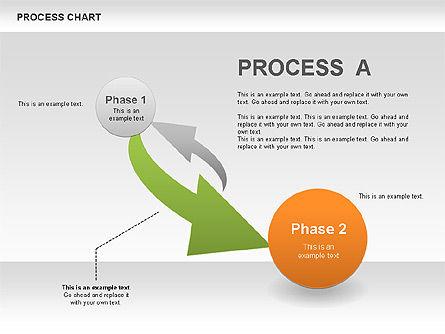 Process Chart Toolbox, Slide 6, 00523, Process Diagrams — PoweredTemplate.com