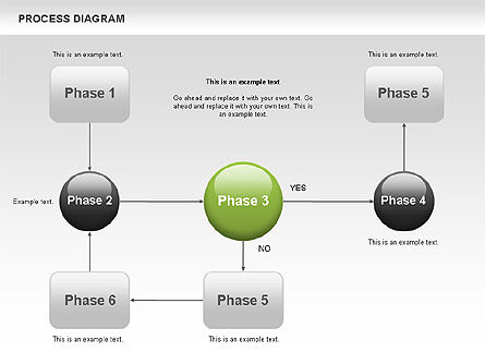 Process Flow Chart, 00524, Flow Charts — PoweredTemplate.com