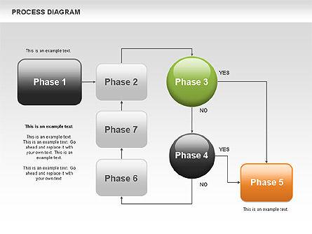 Process Flow Chart, Slide 10, 00524, Flow Charts — PoweredTemplate.com