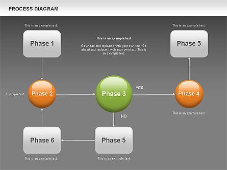 Process Flow Chart, Slide 11, 00524, Flow Charts — PoweredTemplate.com