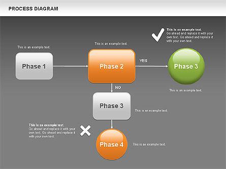 Process Flow Chart, Slide 12, 00524, Flow Charts — PoweredTemplate.com