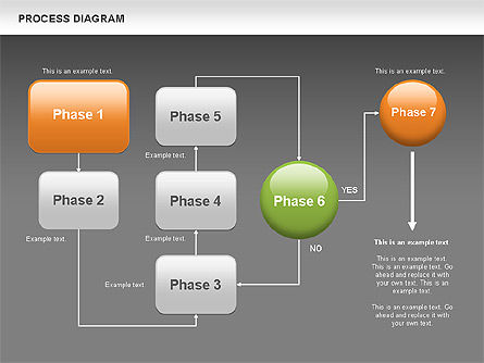 Process Flow Chart, Slide 13, 00524, Flow Charts — PoweredTemplate.com