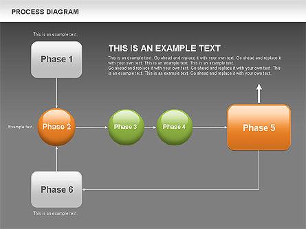 Process Flow Chart, Slide 14, 00524, Flow Charts — PoweredTemplate.com