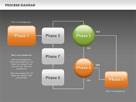 Process Flow Chart, Slide 15, 00524, Flow Charts — PoweredTemplate.com