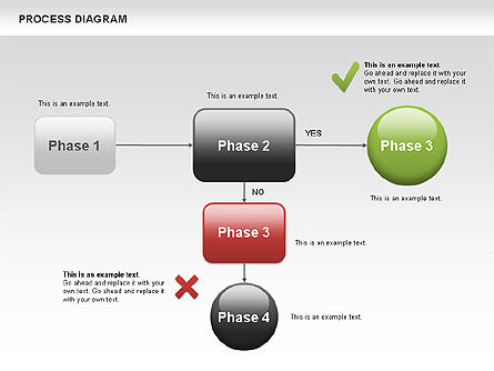 Process Flow Chart, Slide 2, 00524, Flow Charts — PoweredTemplate.com