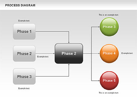Process Flow Chart, Slide 3, 00524, Flow Charts — PoweredTemplate.com