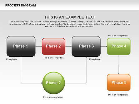 Process Flow Chart, Slide 4, 00524, Flow Charts — PoweredTemplate.com
