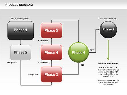 Process Flow Chart, Slide 6, 00524, Flow Charts — PoweredTemplate.com