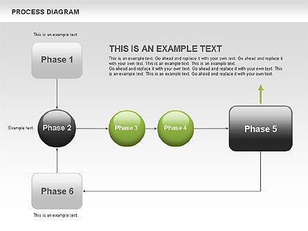 Process Flow Chart, Slide 7, 00524, Flow Charts — PoweredTemplate.com
