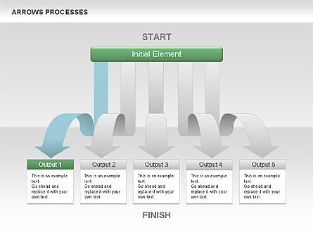 Processes with Cascade Arrows Toolbox, Slide 2, 00526, Process Diagrams — PoweredTemplate.com