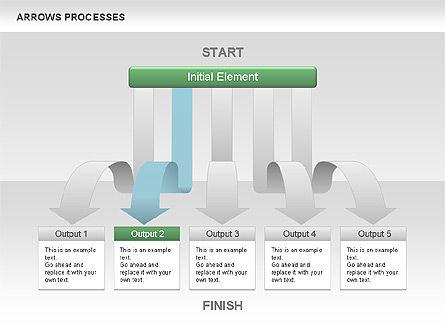 Processes with Cascade Arrows Toolbox, Slide 3, 00526, Process Diagrams — PoweredTemplate.com