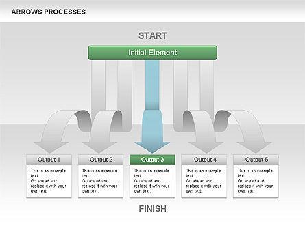 Processes with Cascade Arrows Toolbox, Slide 4, 00526, Process Diagrams — PoweredTemplate.com