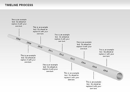 Tube Timeline Process Toolbox, Slide 3, 00527, Timelines & Calendars — PoweredTemplate.com