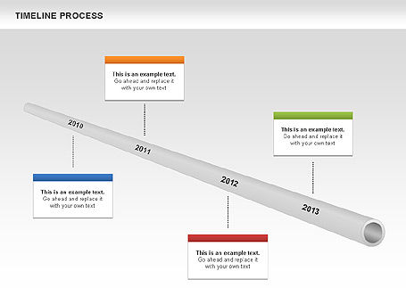 Tube Timeline Process Toolbox, Slide 4, 00527, Timelines & Calendars — PoweredTemplate.com