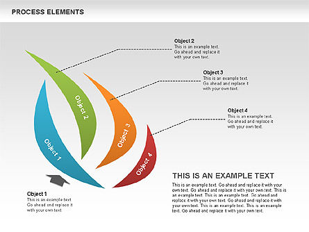 Process Stages Shapes Collection, 00528, Process Diagrams — PoweredTemplate.com