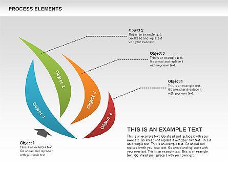 Process Diagrams: Collection des formes des étapes de processus #00528