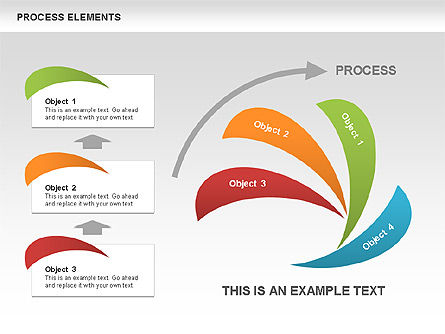 Process Stages Shapes Collection, Slide 4, 00528, Process Diagrams — PoweredTemplate.com