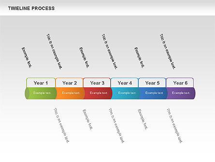 Timeline Process Toolbox, 00531, Timelines & Calendars — PoweredTemplate.com
