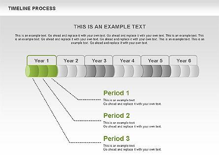 Timeline Process Toolbox, Slide 4, 00531, Timelines & Calendars — PoweredTemplate.com