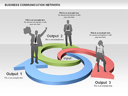 Business Communications Network, 00536, Process Diagrams — PoweredTemplate.com
