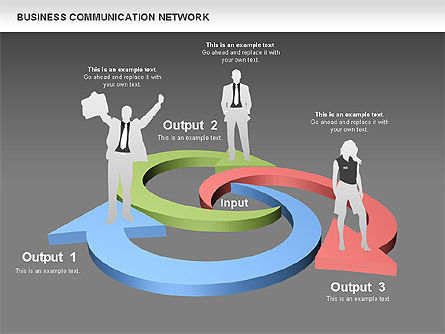 Business Communications Network, Slide 14, 00536, Process Diagrams — PoweredTemplate.com
