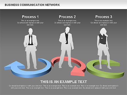 Business Communications Network, Slide 15, 00536, Process Diagrams — PoweredTemplate.com