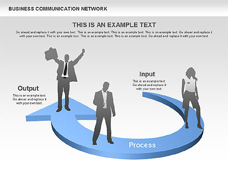 Business Communications Network, Slide 2, 00536, Process Diagrams — PoweredTemplate.com
