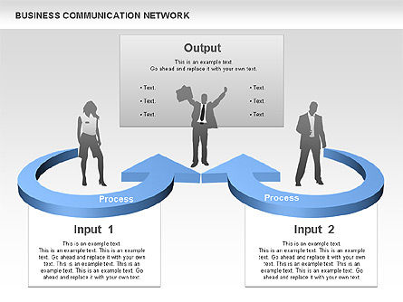 Business Communications Network, Slide 4, 00536, Process Diagrams — PoweredTemplate.com