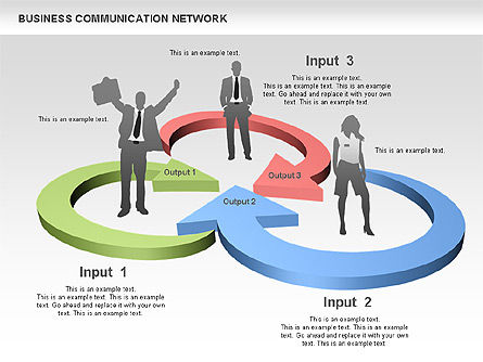 Business Communications Network, Slide 5, 00536, Process Diagrams — PoweredTemplate.com