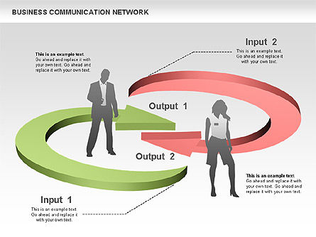 Business Communications Network, Slide 6, 00536, Process Diagrams — PoweredTemplate.com