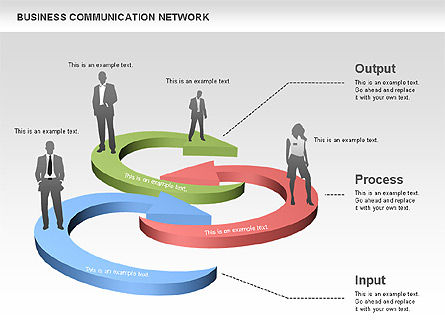 Business Communications Network, Slide 8, 00536, Process Diagrams — PoweredTemplate.com