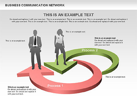 Business Communications Network, Slide 9, 00536, Process Diagrams — PoweredTemplate.com