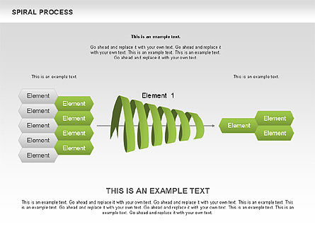 Process Diagrams: Spiral Process Diagram #00537