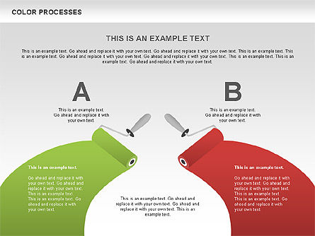 Color Process Diagram, Slide 10, 00540, Process Diagrams — PoweredTemplate.com