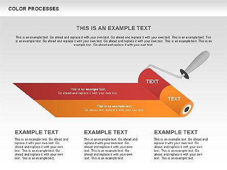 Color Process Diagram, Slide 12, 00540, Process Diagrams — PoweredTemplate.com