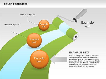 Color Process Diagram, Slide 13, 00540, Process Diagrams — PoweredTemplate.com