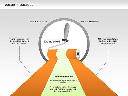 Color Process Diagram, Slide 15, 00540, Process Diagrams — PoweredTemplate.com