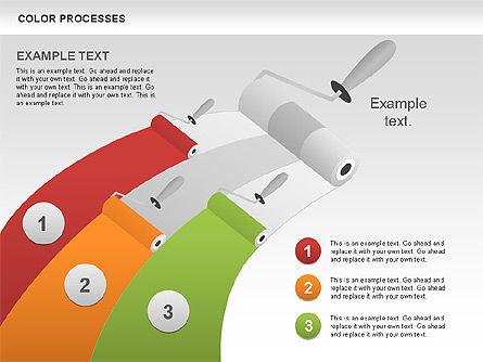 Color Process Diagram, Slide 16, 00540, Process Diagrams — PoweredTemplate.com