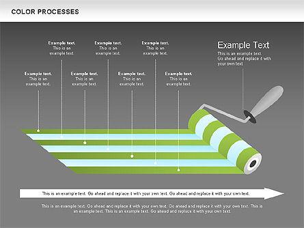 Color Process Diagram, Slide 17, 00540, Process Diagrams — PoweredTemplate.com