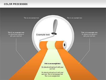 Color Process Diagram, Slide 19, 00540, Process Diagrams — PoweredTemplate.com
