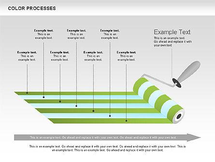 Color Process Diagram, Slide 5, 00540, Process Diagrams — PoweredTemplate.com
