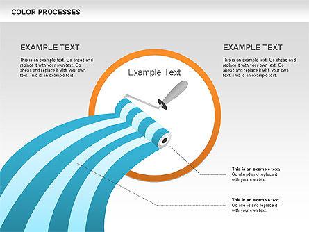 Color Process Diagram, Slide 6, 00540, Process Diagrams — PoweredTemplate.com