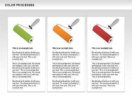 Color Process Diagram, Slide 7, 00540, Process Diagrams — PoweredTemplate.com